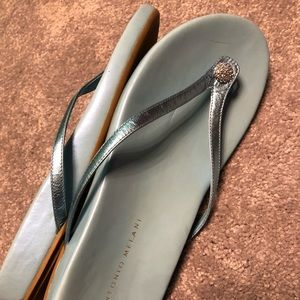 Antonio Melani Crystal Embellished Slides